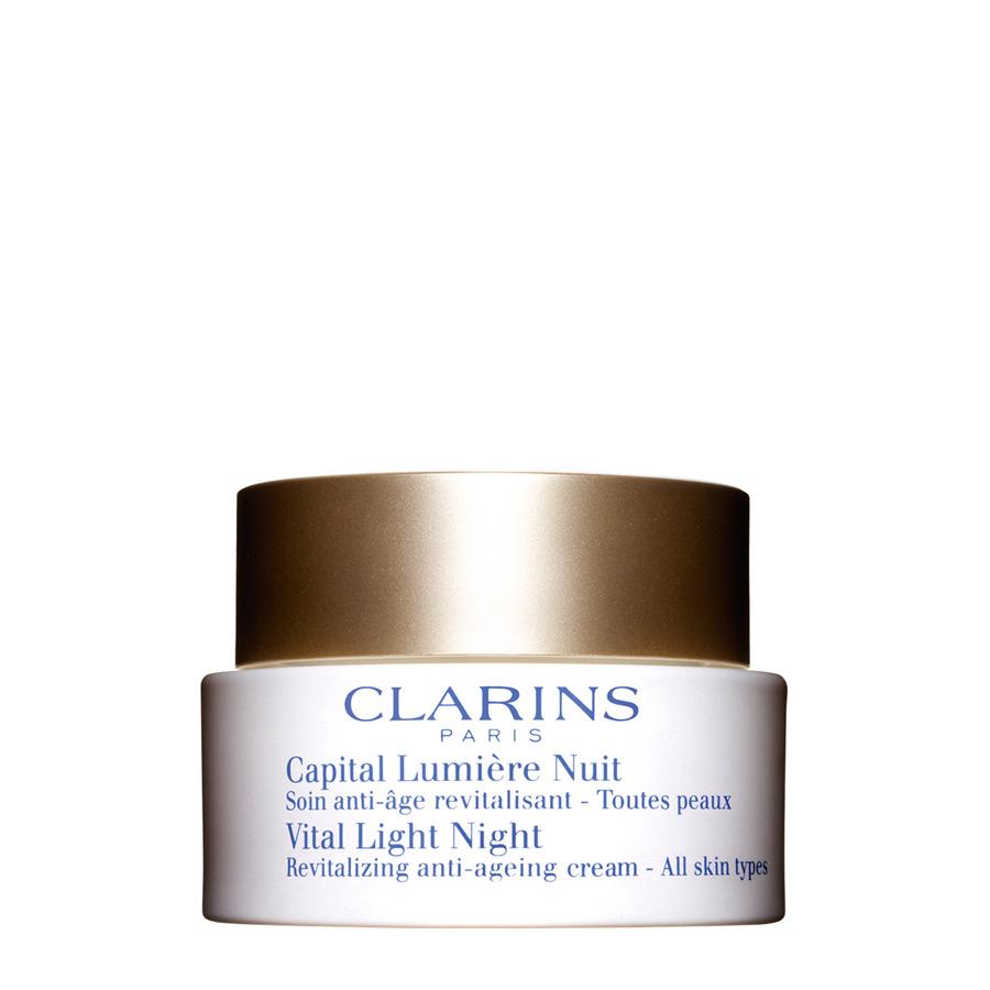 Clarins Capital Lumiere Nuit Toutes Peaux (trattamento esclusivo antirughe antieta che restituisce alla pelle vitalita e splendore durante la notte per tutti i tipi di pelle ) 50 ml