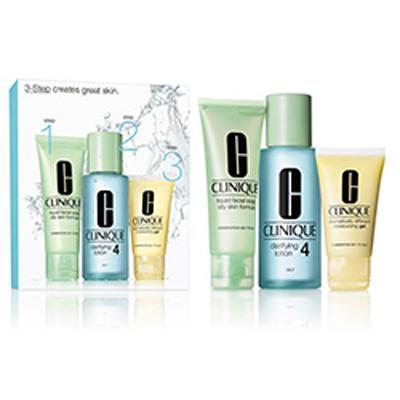 Cofanetto Clinique - 3 Step pelle da oleosa a molto oleosa
