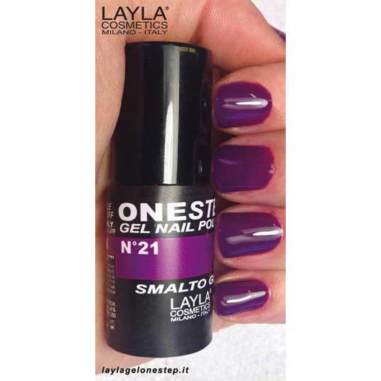 Layla One Step Gel Nail Polish n. 21 purple rain