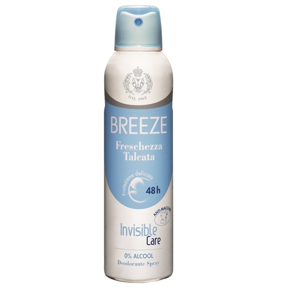 Breeze Deodorante Spray Invisible Care Freschezza Talcata 100 ml spray