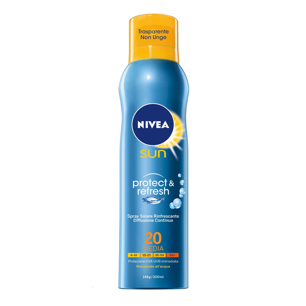 Nivea Sun Protect & Refresh Spray Solare Rinfrescante FP 20 200 ml