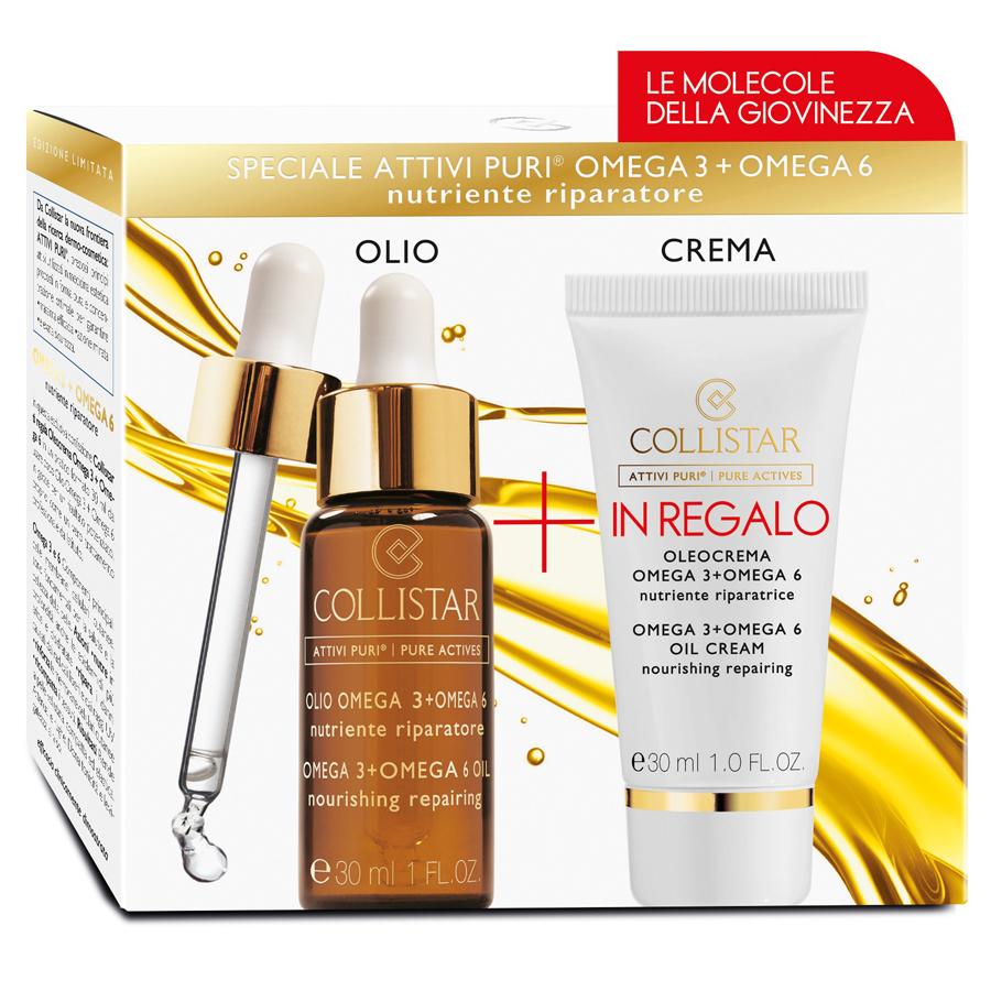 Collistar Kit Attivi Puri Olio Omega 3+6 30 ml + IN REGALO Olio Crema 30 ml CODICE VECCHIO