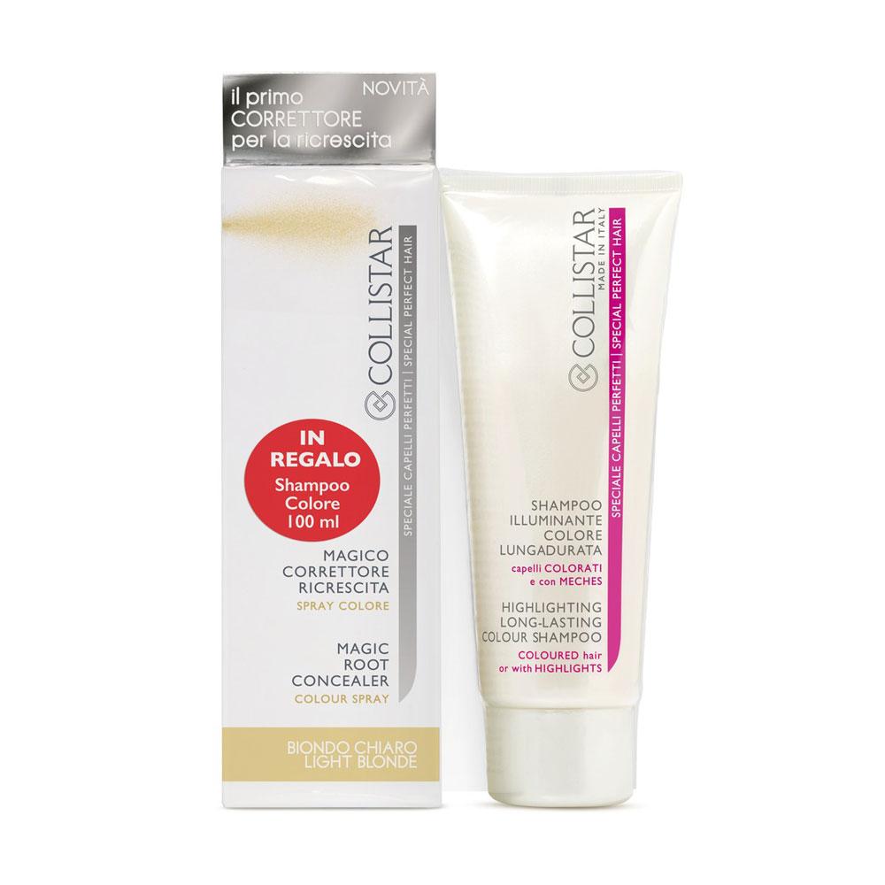 Collistar Kit Magico Correttore Ricrescita biondo chiaro + IN REGALO Shampoo Colore Lungadurata 100 ml
