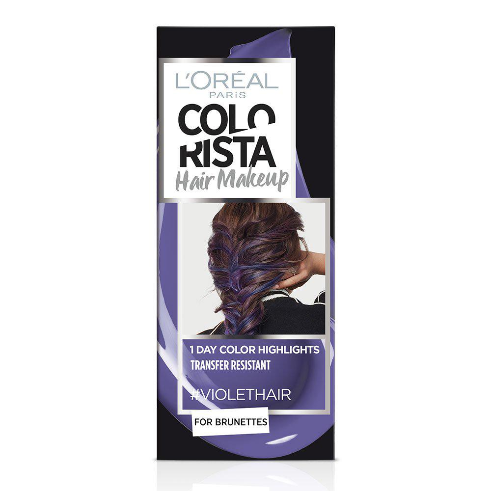L Oreal Colorista Hair Makeup violet hair
