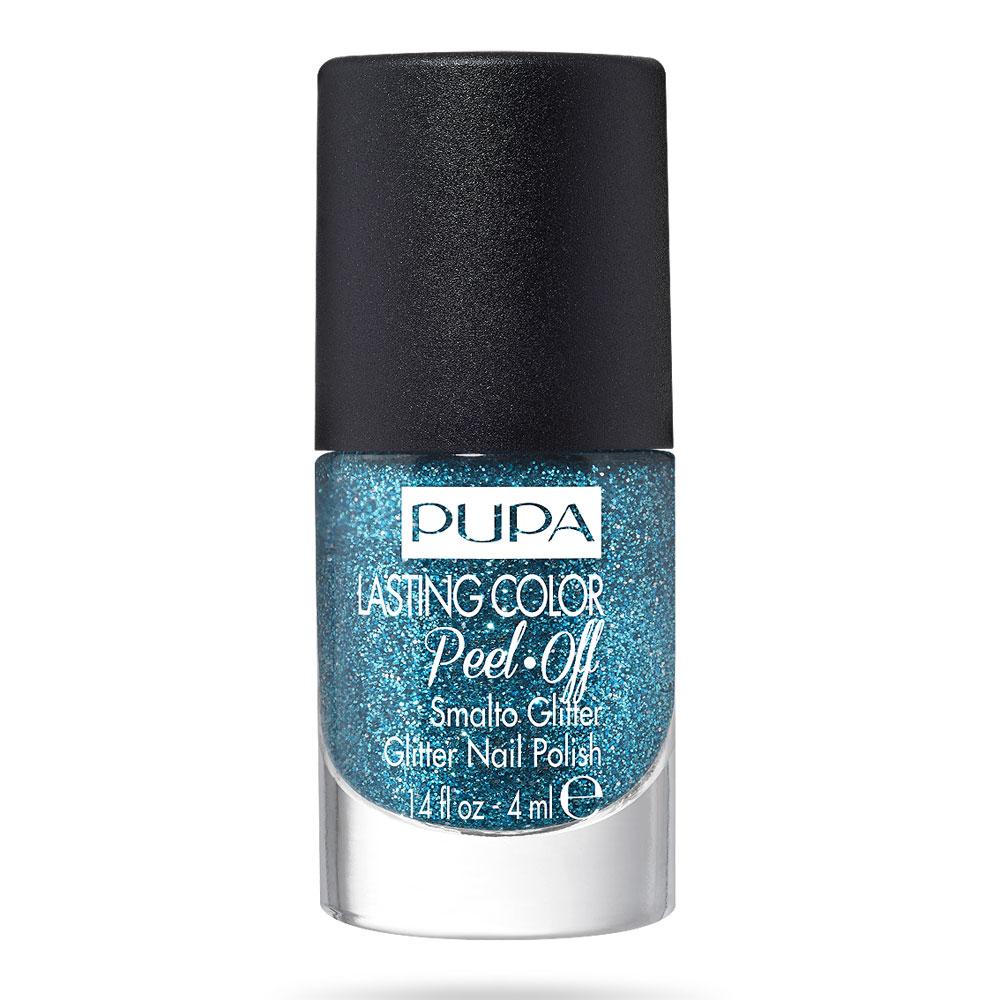 Pupa Lasting Color Peel Off Smalto Glitter n. 011 carrebbean blue