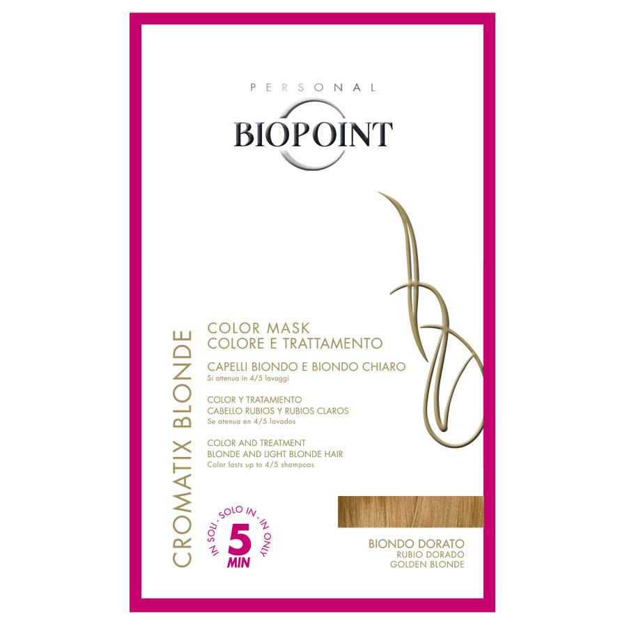 Biopoint cromatix blonde color mask biondo dorato (trattamento colorante per capelli bionde e biondo chiaro) monodose 30 ml