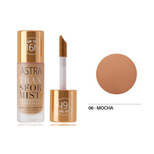 Astra Transformist Foundation + Concealer n. 06 mocha