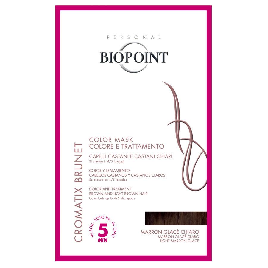 Biopoint Cromatix Brunet Color Mask Marron Glace Chiaro monodose 30 ml ( trattamento colorante per capelli castani e castani chiari )